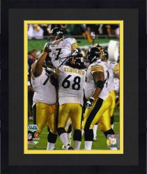 Framed Pittsburgh Steelers Ben Roethlisberger Super Bowl XLIII Signed 8'' x 10'' Celebration Photo