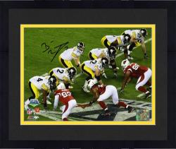 Framed Pittsburgh Steelers Ben Roethlisberger Super Bowl XLIII Signed 8'' x 10'' Under Center Photo