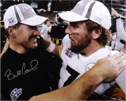 Framed Pittsburgh Steelers Bill Cowher and Ben Roethlisberger Autographed Photo
