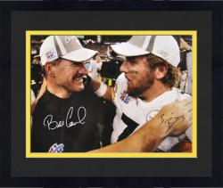 "Framed Pittsburgh Steelers Roethlisberger & Cowher Signed 16"" x 20"" Photo"