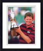 Framed Nick Price Autographed 8'' x 10'' Holding Trophy Photograph