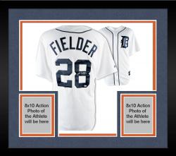 Framed Prince Fielder Detroit Tigers Autographed Majestic Replica Home White Jersey