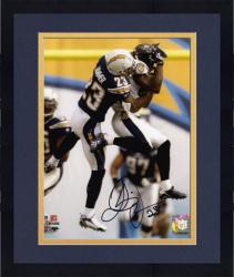 "Framed Quentin Jammer San Diego Chargers Autographed 8"" x 10"" vs Baltimore Ravens Photograph"
