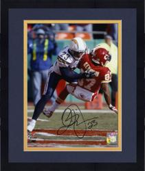 "Framed Quentin Jammer San Diego Chargers Autographed 8"" x 10"" vs Kansas City Chiefs Photograph"