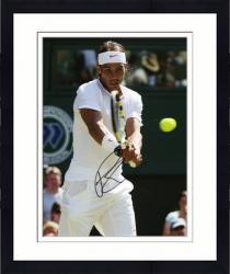 "Framed Rafael Nadal Autographed 8"" x 10"" Wimbledon White Pink Photograph"