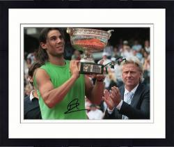 "Framed Rafael Nadal & Bjorn Borg Dual Autographed 8"" x 10"" Trophy Photograph"