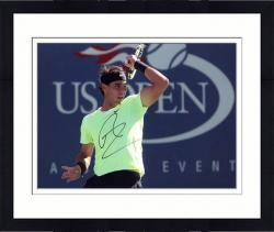"Framed Rafael Nadal Autographed 8"" x 10"" US Open Black Band Photograph"