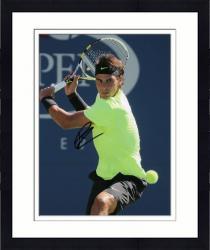 "Framed Rafael Nadal Autographed 8"" x 10"" Neon Yellow Shirt Photograph"
