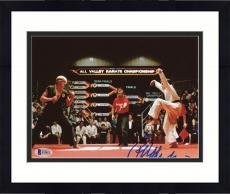 "Framed Ralph Macchio Autographed 8"" x 10"" Karate Kid - Crane Kick Photograph - Beckett COA"