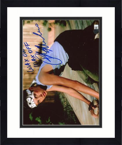 "Framed Ralph Macchio Karate Kid Autographed 8"" x 10"" Photograph with Wax on Wax off Inscription - SMI"