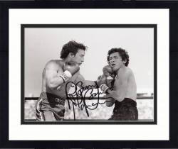 Framed Ray Mancini Autographed 8'' x 10'' Punching Photograph