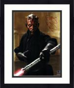 """Framed Ray Park Star Wars The Phantom Menace Autographed 8"""" x 10"""" as Darth Maul Photograph - Topps Authentic"""