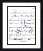 "Framed Ray Parker Jr. Ghostbusters Autographed 8"" x 10"" Sheet Music Photograph"