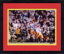 "Framed Reggie Bush and Matt Leinart USC Trojans ""The Push"" Dual Autographed 16"" x 20"" Photograph - Mounted Memories"