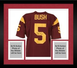 Framed Reggie Bush Autographed Jersey - Mounted Memories