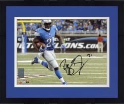 "Framed Reggie Bush Detroit Lions Autographed 8"" x 10"" Horizontal Running Photograph"