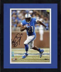 "Framed Reggie Bush Detroit Lions Autographed 8"" x 10"" Vertical Running Photograph"