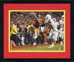 "Framed Reggie Bush USC Trojans Autographed 16"" x 20"" The Dive vs. Texas Longhorns Photograph"