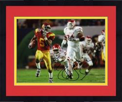 "Framed Reggie Bush USC Trojans Autographed 8"" x 10"" Running Photograph - Mounted Memories"