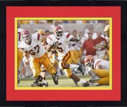 """Framed Reggie Bush USC Trojans Stiff Arm 16"""" x 20"""" Autographed Photograph"""