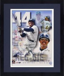 "Framed Reggie Jackson Autographed 16"" x 20"" Photograph Collage with Four Inscriptions"