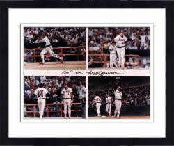"Framed Reggie Jackson California Angels 500 HR Autographed 16"" x 20"" Photograph with 500th HR Inscription"