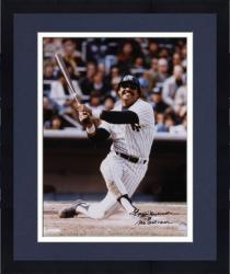 "Framed Reggie Jackson New York Yankees Autographed 16"" x 20"" Knee Down Photograph with Mr October Inscription"