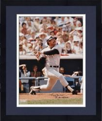 Framed Reggie Jackson New York Yankees Autographed 16'' x 20'' Looking Up Photograph with Mr. October Inscription