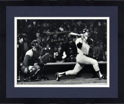 "Framed Reggie Jackson New York Yankees Autographed 16"" x 20"" World Series Photograph with 3 WS HRS Inscription"