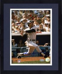 "Framed Reggie Jackson New York Yankees Autographed 8"" x 10"" Hit Photograph"