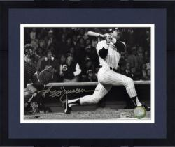 Framed Reggie Jackson New York Yankees Autographed 8'' x 10'' Horizontal Hitting Photograph