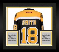 Framed Reilly Smith Boston Bruins Autographed Black Reebok Premier Jersey