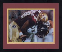 Framed Fanatics Authentic Autographed Jamal Reynolds Florida State Seminoles 8'' x 10'' Making Tackle Photograph