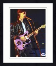 "Framed Ric Ocasek Autographed 8""x 10"" The Cars Playing Guitar Photograph - PSA/DNA COA"