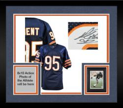 Framed Richard Dent Chicago Bears Autographed Custom Throwback Navy Jersey