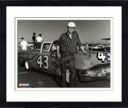 "Framed Richard Petty Autographed 8"" x 10"" B&W Photograph"