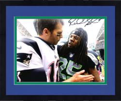 Framed Richard Sherman Seattle Seahawks Autographed 8'' x 10'' with Tom Brady Photograph