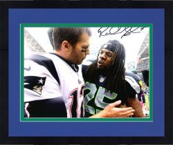 "Framed Richard Sherman Seattle Seahawks Autographed 8"" x 10"" with Tom Brady Photograph"