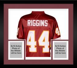 Framed John Riggins Autographed Redskins Proline Jersey