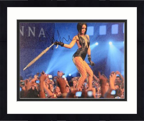 """Framed Rihanna Autographed 16""""x 20"""" Stretched Canvas - BAS COA"""