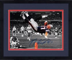 Framed Rob Gronkowski New England Patriots Autographed 16'' x 20'' The Flip Spotlight Photograph