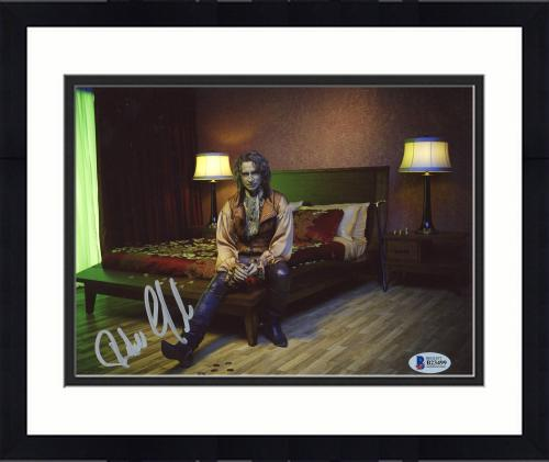 """Framed Robert Carlyle Autographed 8"""" x 10"""" Once Upon A Time Sitting On Bed Photograph - Beckett COA"""
