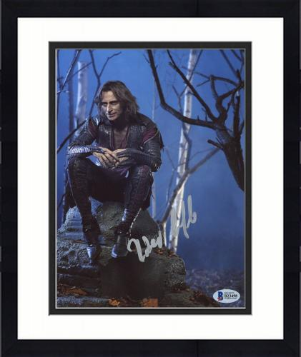 """Framed Robert Carlyle Autographed 8"""" x 10"""" Once Upon A Time Sitting On Rock Photograph - Beckett COA"""