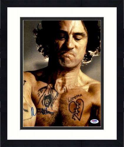 """Framed Robert De Niro Autographed 11"""" x 14"""" Cape Fear Long Hair And Tattoos Photograph - PSA/DNA COA"""