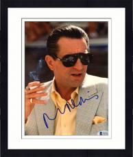 """Framed Robert De Niro Autographed 8""""x 10"""" Casino Smoking Photograph - Beckett COA"""
