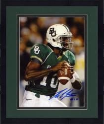 "Framed Robert Griffin III Baylor Bears Autographed 8"" x 10"" Looking to Pass Photograph"