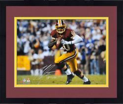 "Framed Robert Griffin III Washington Redskins Autographed 16"" x 20"" Run With Ball Photograph"