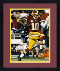 "Framed Robert Griffin III Washington Redskins Autographed 8"" x 10"" vs New York Giants Photograph"