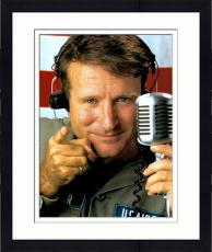 Framed Robin Williams Autographed 11'' x 14'' Air Force Pointing Photograph