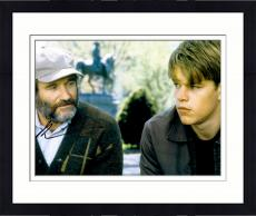 Framed Robin Williams Autographed 11'' x 14'' With Matt Damon Horizontal Photograph